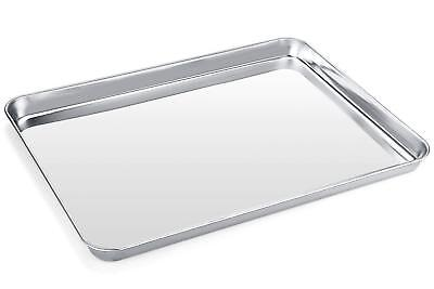"Baking Membrane Stainless Steel Cookie Sheet Toaster Oven Baking Pan Tray 16"" x 12"""