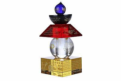 Feng Shui Crystal 5 Color 5 Element Pagoda (5.5 Inches)