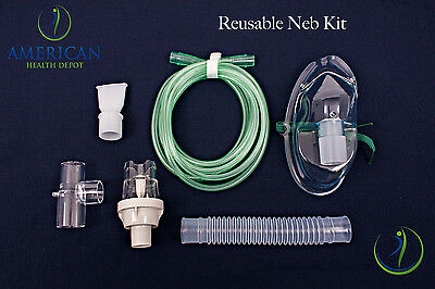 Adult Aerosol Nebulizer Mask W  Reuseable Neb Kit For Asthma Copd Drive Medical