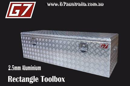 Rectangle Aluminium Toolbox for utes trucks trailers lock up