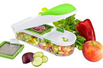 Push Food Chopper Vegetable Salad Fruit Peeler Cutter Slicer Dicer Greater