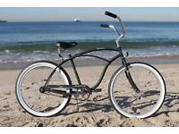 "Retro Bike Felt Classic Oldschool Plattform Pedal weiß 9 //16/"" Beachcruiser"