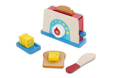 Melissa & Doug Bread And Butter Toaster Set Wooden Play Toy