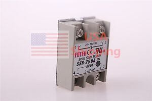 DC-AC for Temperature Controller Solid State Relay Heat Sink  SSR-25DA 25A