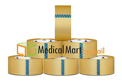 24 Rolls Carton Sealing Clear Packingshippingbox Tape - 3 Inch X 110 Yards