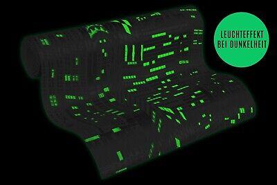 Vliestapete Skyline Glow In The Dark silber weiß Metallic 2528-52 (2,60€/1qm) ()