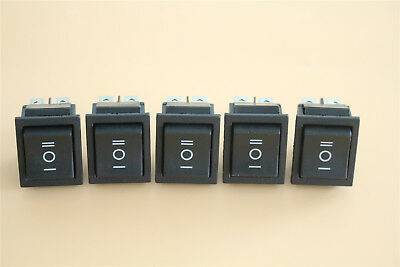 Us 5pcs Momentary Onoffon Rectangle Rocker Switch 6-pin Dpdt 12v Carboat