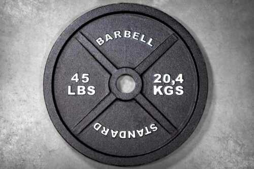 Rep Fitness 45lb Iron Weight Plates Pair (90 lbs total)