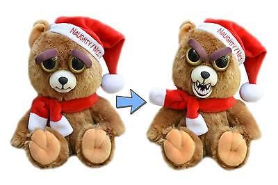 Feisty Pet Santa Bear: Ebeneezer Claws Stuffed Attitude Plush Animal