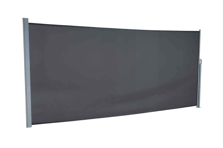 Seitenmarkise Sichtschutz Windschutz Sonnenschutz Terrasse 160/180 x 450 empasa