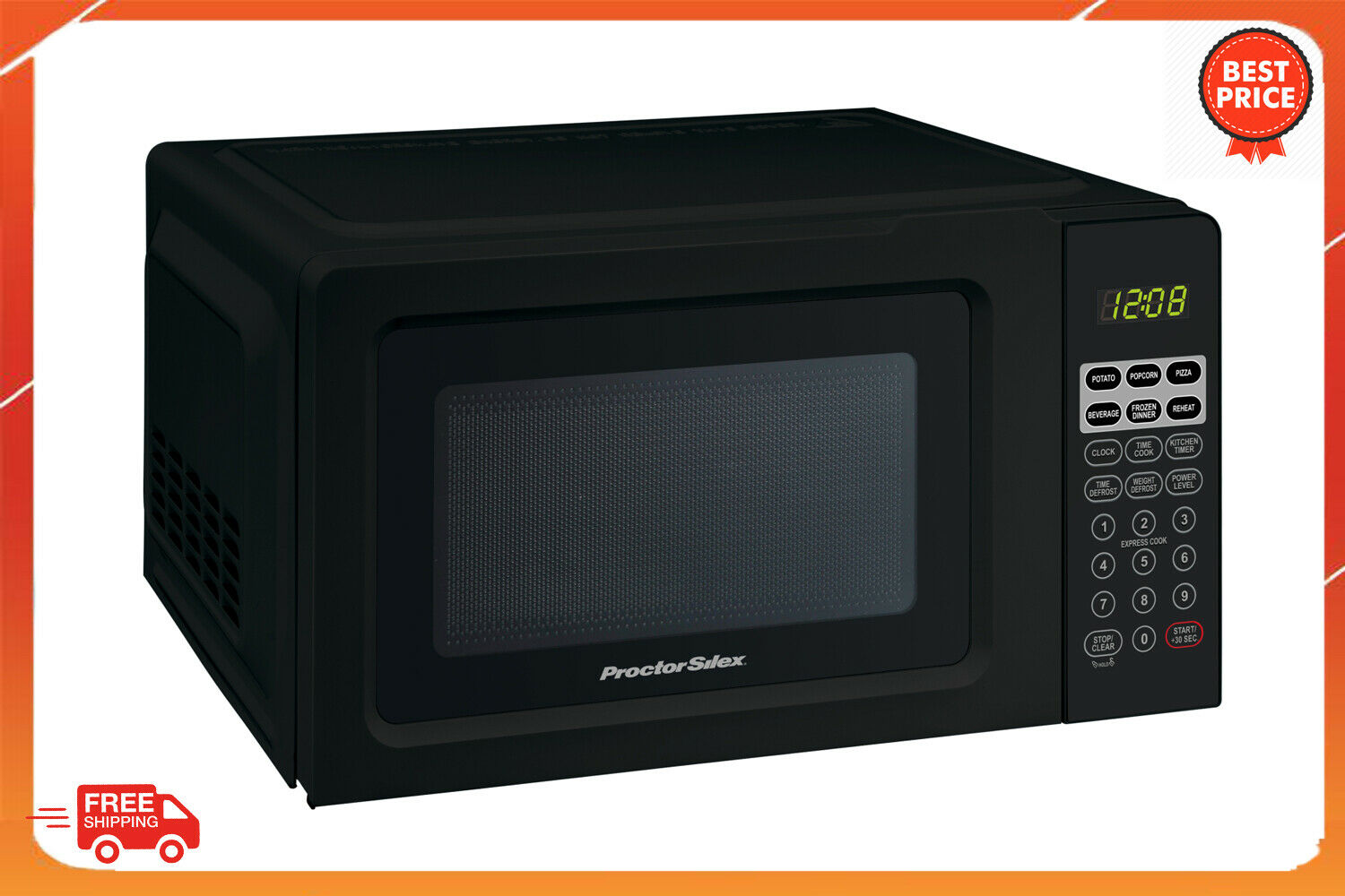 Kitchen Office Home Mini Microwave Oven Digital Countertop Appliance Black Small