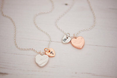 Jewellery - Shaard Personalised Silver Rose Plated Heart Necklace Bracelet Jewellery Charm