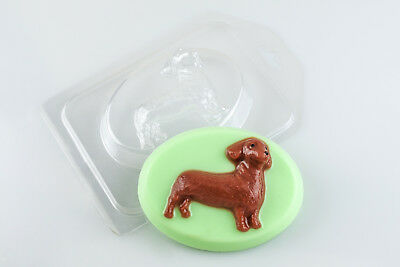 """Dachshund 3"" dog plastic soap mold soap making mold mould hob1"