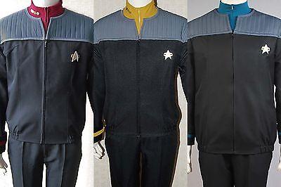 Star Trek NEM Duty Uniform Halloween Cosplay Costume Nemesis Jacket+shirt+badge](Star Trek Halloween Costume)