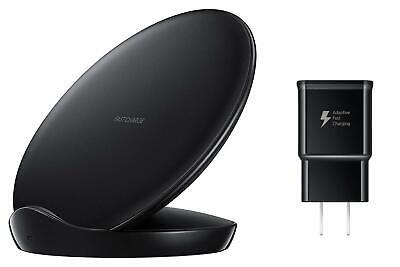 Samsung Qi Certified Fast Charge Stand Charger (2018 Edition) (Black) ()