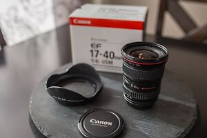 Canon EF 17-40 mm f/4 lens