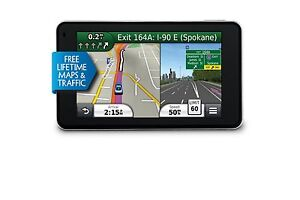 GARMIN NUVI 3490LMT GPS NAVIGATOR LIFETIME MAPS & TRAFFIC 010-00009-00