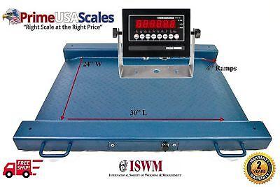 2500 Lb X 0.5 Lb Optima Scale Op-917 Lightweight Portable Drum Scale