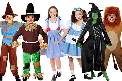 KANSAS KIDS SCHOOL BOOK / FILM CHARACTER DOROTHY SCARECROW LION WITCH COSTUME (Children's Book Character Costumes)