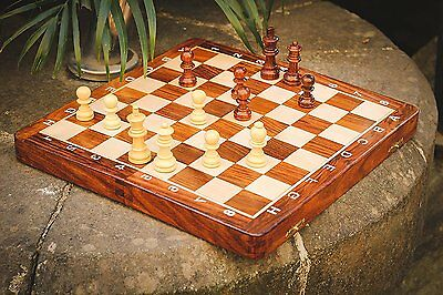 Super Sale Magnetic 12  X 12  Inch Premium Wooden Chess Set Game With Extra And