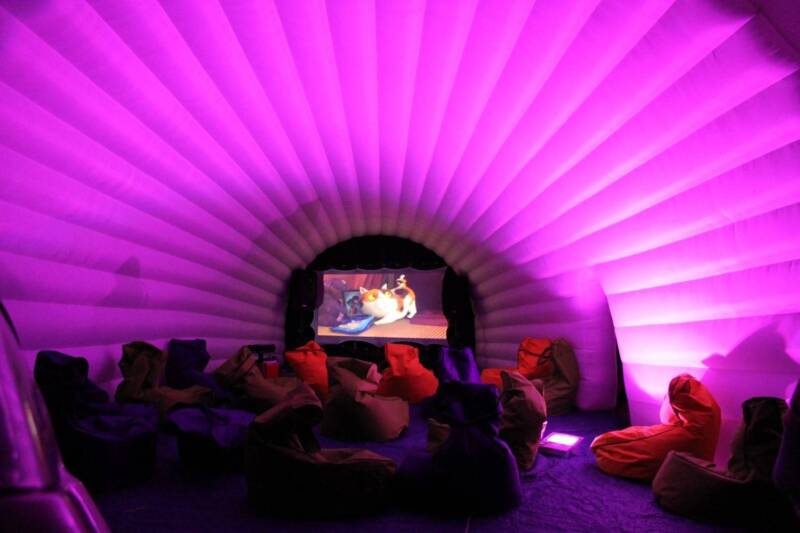 Outdoor Cinema Igloo With Inbuilt Screen Backyard Party Hire