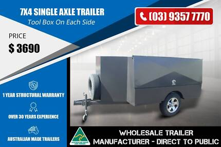 Single Axle Trailer Custom Build - GVM 1400kg - 7x4 Epping Whittlesea Area Preview
