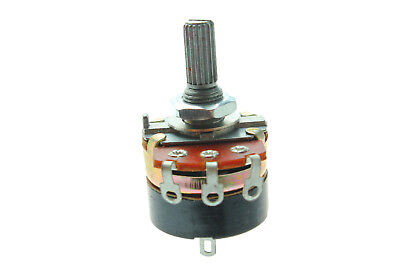 Wh138-1 B100k Ohm Rotary Switch Carbon Precision Potentiometers 1pcs