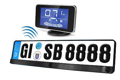Einparkhilfe Kennzeichen Nummernschild Halterung Rückfahrwarner Funk kabellos