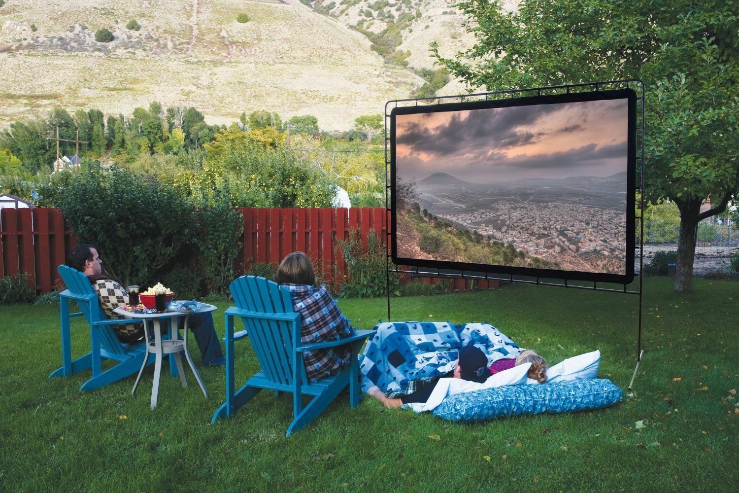 how to make an outdoor movie screen ebay. Black Bedroom Furniture Sets. Home Design Ideas