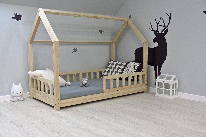 Kinderbett Häuschenbett Hausbett Holzbett Kinderhaus 90x200