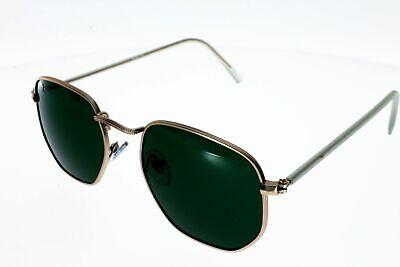 Sonnenbrille Ad Fußmatten 19082 Dore Metall mit Glas Grün Stil John Lennon He ()