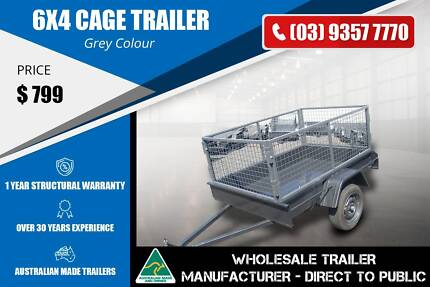 Light Duty Cage Trailer - Checker Plate Floor - 6X4 Epping Whittlesea Area Preview