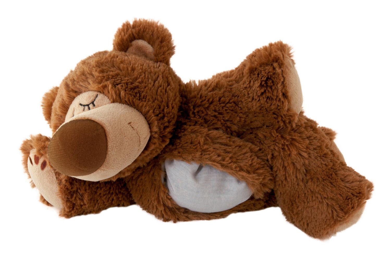 Original Warmies Greenlife Wärmestofftier Wärmekissen Körnerkissen Wärmetier NEU Sleepy Bear braun - herausnehmbar