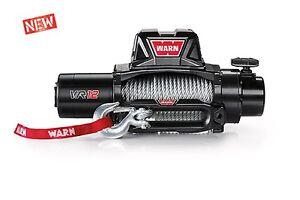 WARN 96820 VR12 12000lb Winch 12V Hawse Fairlead 80' 3/8 Wire Rope Cable