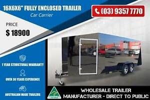 16x6x6'' Fully Enclosed Trailer - 2.8 Tonne - Car Carrier