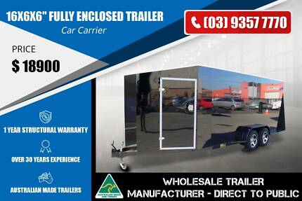 16x6x6'' Fully Enclosed Trailer - 2.8 Tonne - Car Carrier Epping Whittlesea Area Preview
