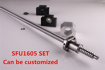 Cnc Ballscrew End Machined Sfu1605 With Nut Housing Bkbf12 Support 250-1550mm