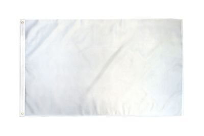 2x3 White Solid Color 210D 2'x3' Knitted Poly Nylon DuraFlag Banner (FI)