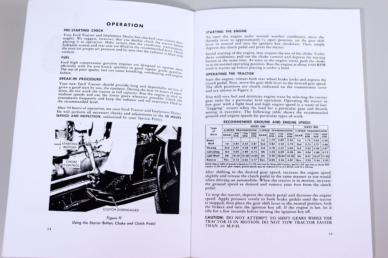 Ford 800 Tractor Transmission Schematic Diagrams Engine Diagram 600 Series Owners Operators Manual Book Maintenance C4 Parts