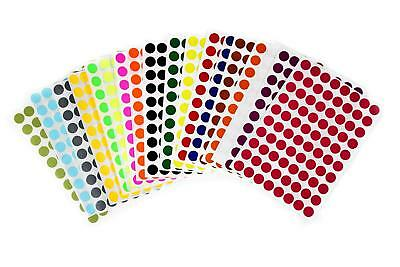 Round Marking 12 Inch Dot Stickers 13mm Colored Organizing Labels 1440 Pack