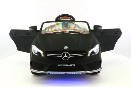 Mercedes CLA45 12V Kids Ride-On Car MP3 USB Player Battery Powered Wheels RC Parental Remote + 5 Point Safety Harness   Matt Black