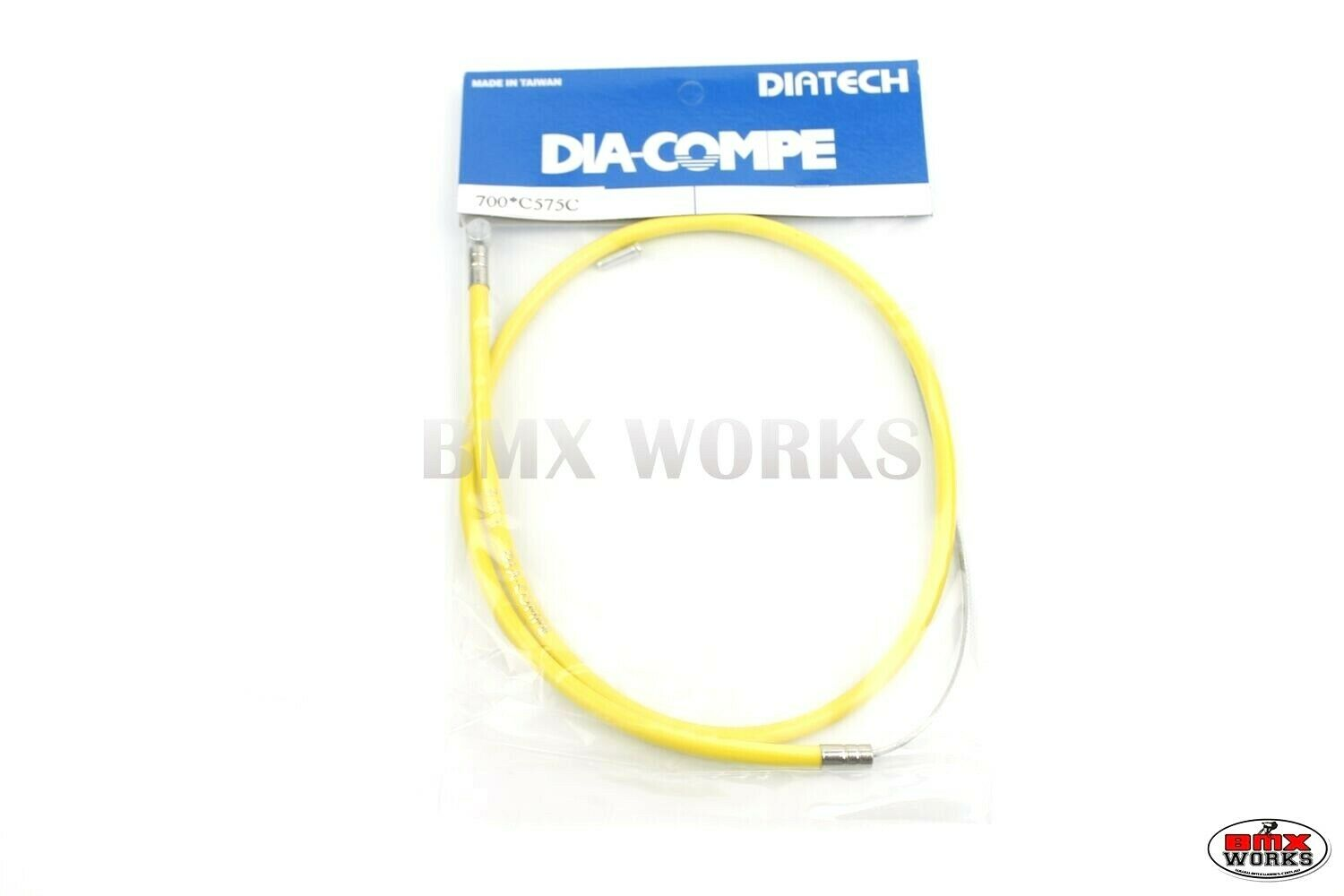 Dia Compe Style Brake Cable Front /& Rear Old School BMX Yellow Barrel End Cables