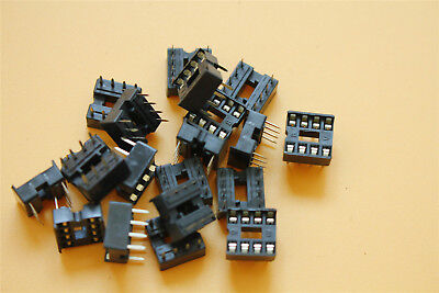 20pcs Double In-line Integrated Circuit 8pin Dip-20 Solder Type Ic Socket