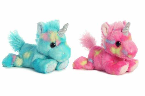 "Aurora 7""  Unicorn Stuffed Animal Toy Bright Fancies Collection - Set of 2"