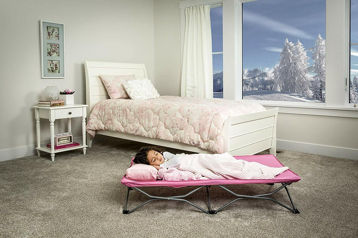 Regalo My Cot Portable Toddler Bed, Includes Fitted Sheet, P