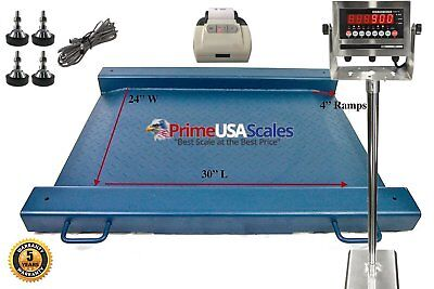 24 X 30 Floor Scale Drum Scale Indicator 2500 Lb Legal For Trade Printer