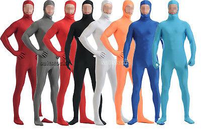 Kids Adult Open face Lycra Spandex Zentai Skin Costume Bodysuit Catsuit Unitard  (Skin Costume Kids)