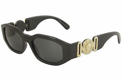 Versace Unisex VE4361 GB1/87 53mm Sunglasses Black-Gold / Grey Lens