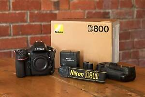 Nikon D800 with Battery Grip + Accessories Camberwell Boroondara Area Preview