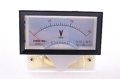 Lab Rectangle Plastic Panel Gauge Voltmeter Voltage Meter Dc 30v 69c17